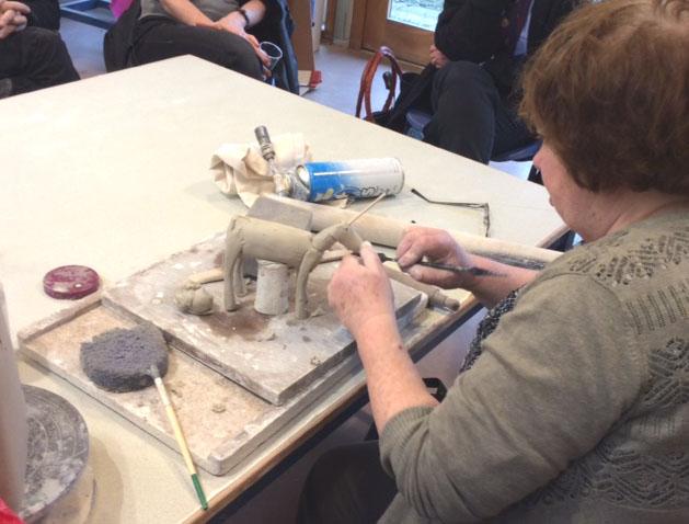 Anna Noel workshop at Aberystwyth Arts Centre November 2016