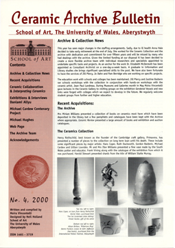 Ceramic Archive Bulletin No 4, 2000