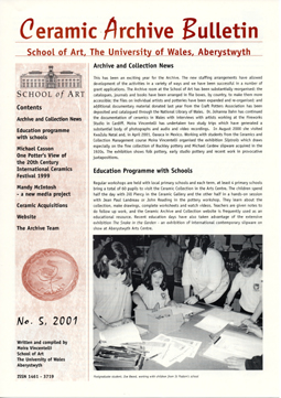 Ceramic Archive Bulletin No 5, 2001