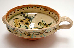 "5. Bowl with rabbit, 2002 (3"" x 8.5"")"