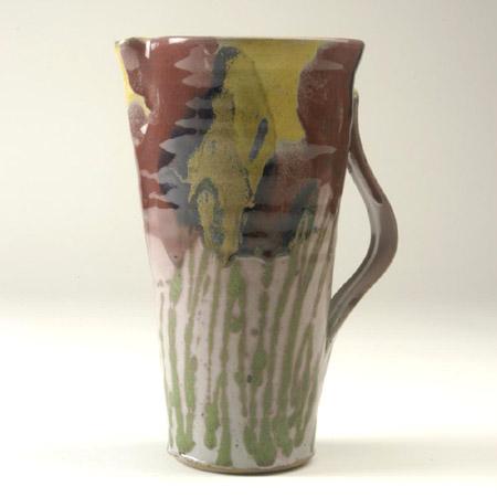 Medium sized flower jug by Janice Tchalenko c1034