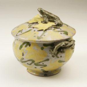 "11. Tureen with frog lid, 1984 (7.5 x 7.75"")"