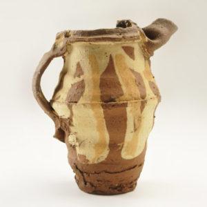 Earthenware jug, 1988 18 cm high