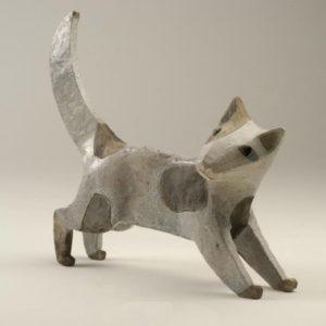Cat Raku, 27 cm high, 34 cm wide