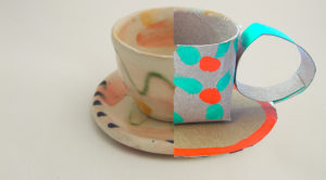 carboard cup&saucer