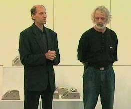 Imre Schrammel (left) with János Probstner